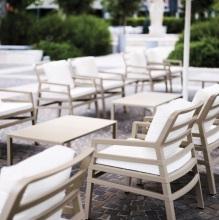 Židle Aria Avana Acrilic Bianco, Stolík Aria 100 Avana